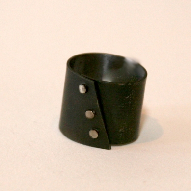 Steel Ribbit Ring $75